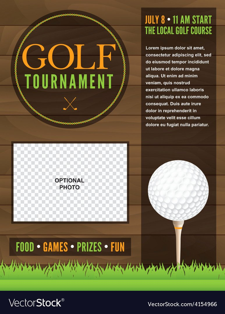 Free Golf tournament Flyers Templates Beautiful Golf tournament Flyer Template Royalty Free Vector Image