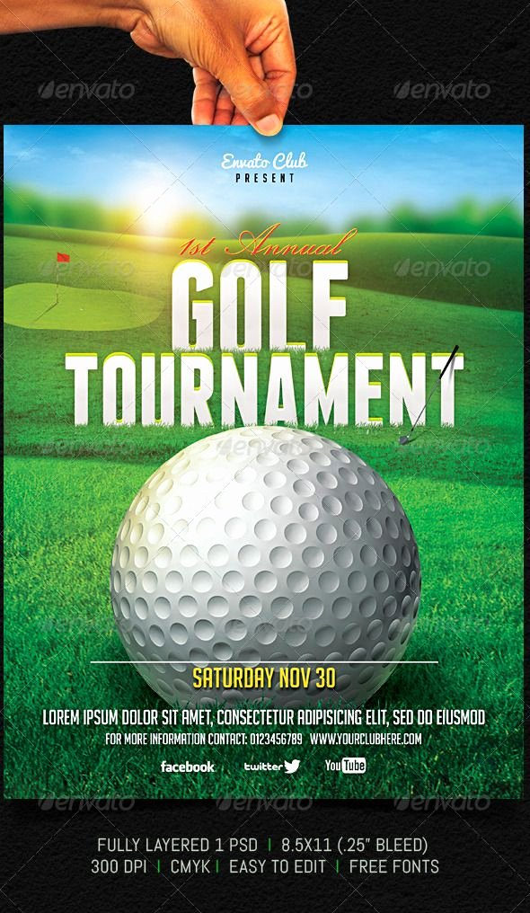 Free Golf tournament Flyers Templates Inspirational Golf tournament Flyer Graphicriver Fully Layered 1 Psd