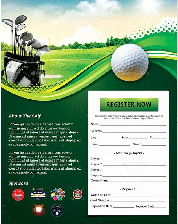 Free Golf tournament Flyers Templates Lovely Flyer Template Idea