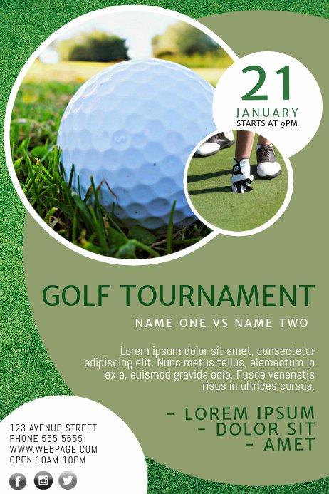 Free Golf tournament Flyers Templates Lovely Golf Flyer Template