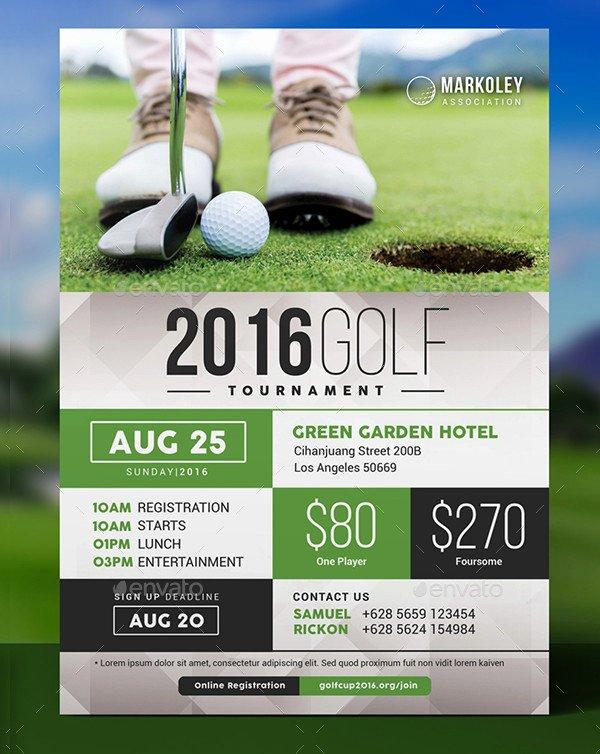 Free Golf tournament Flyers Templates Luxury 27 Golf tournament Flyer Templates Free & Premium Download