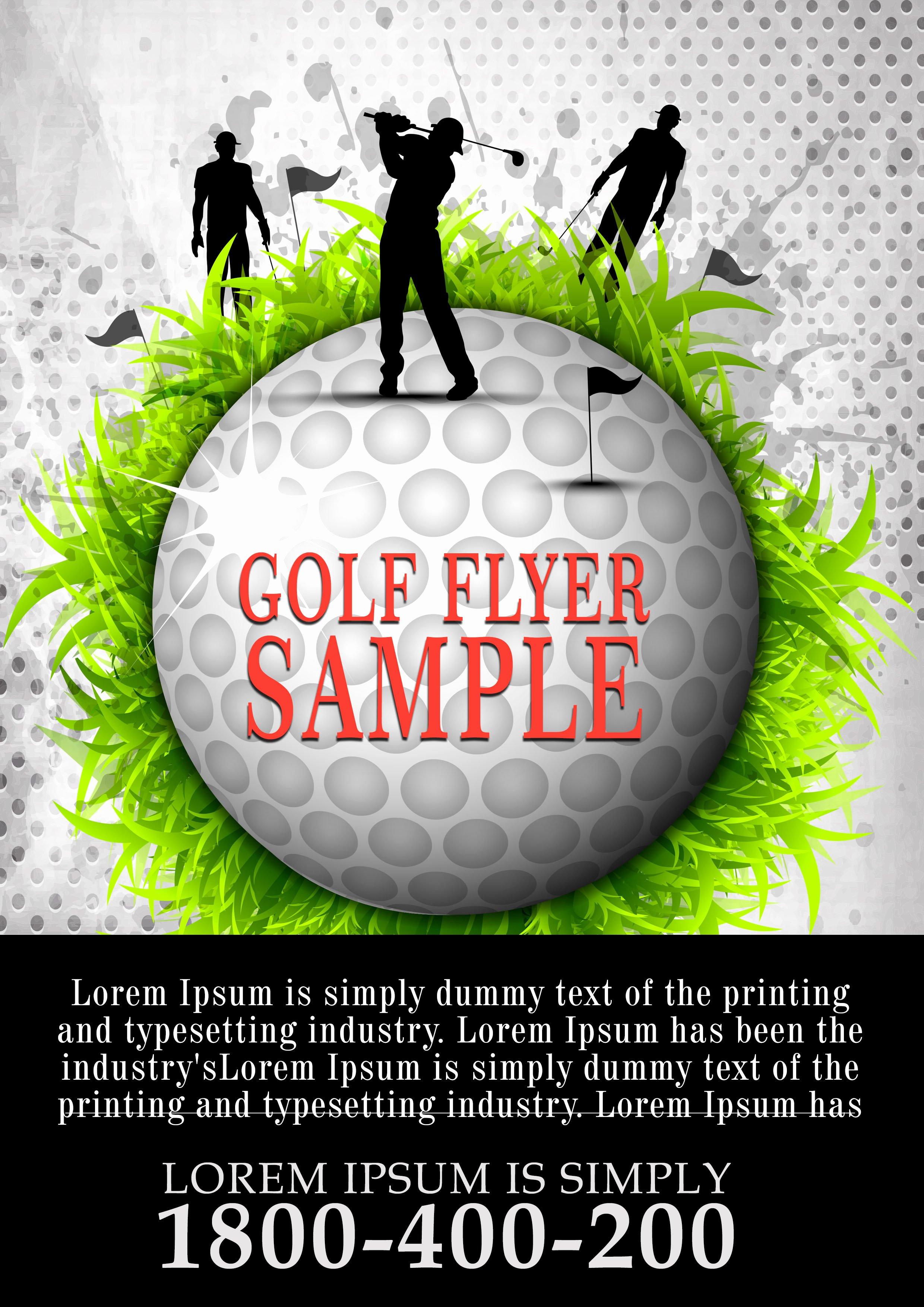 Free Golf tournament Flyers Templates Luxury Free Golf tournament Flyer Template