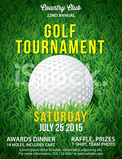 Free Golf tournament Flyers Templates Luxury Golf tournament Invitation Flyer with Grass and Ball