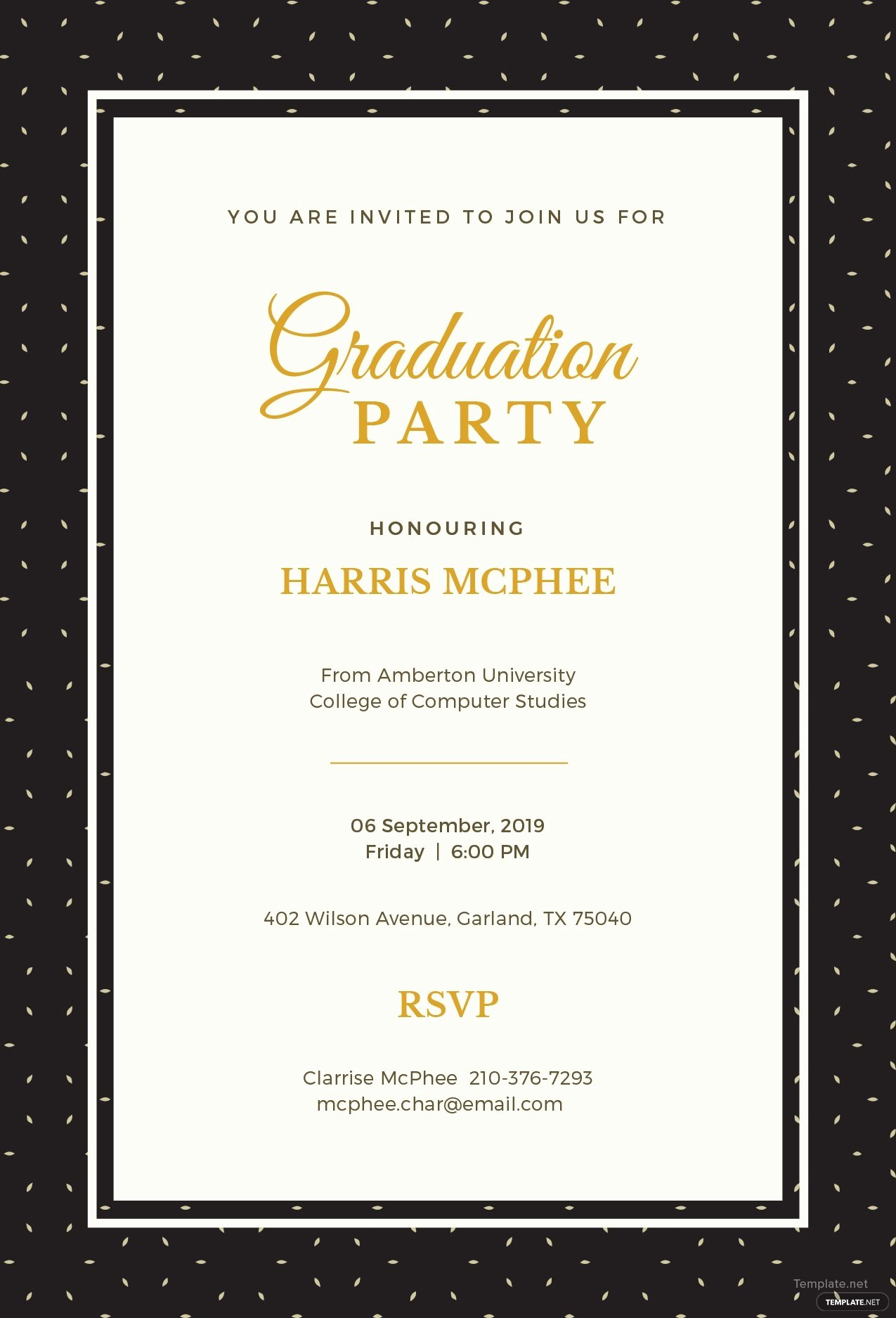 Free Graduation Announcement Template Awesome Free Graduation Invitation Template In Adobe Shop