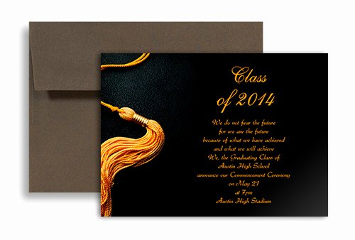 Free Graduation Announcement Template Best Of 2019 Black Golden Color Personalized Graduation Invitation