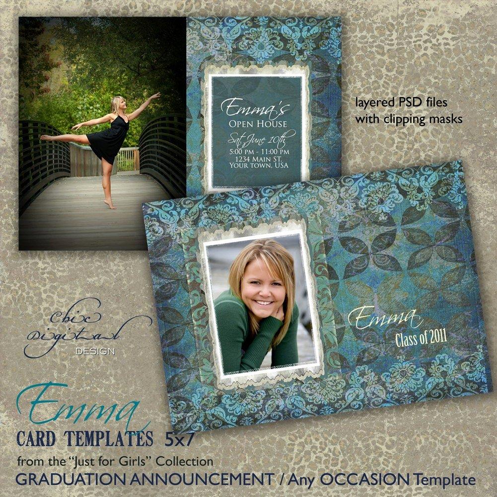 Free Graduation Announcement Template Best Of Graduation Announcement Card Template for Graphers 5x7