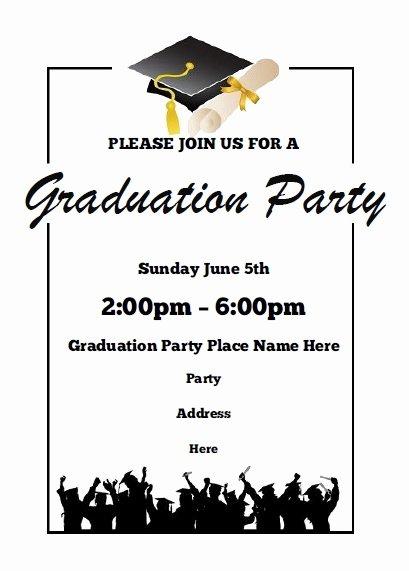 Free Graduation Announcement Template Elegant Graduation Party Invitations Free Printable