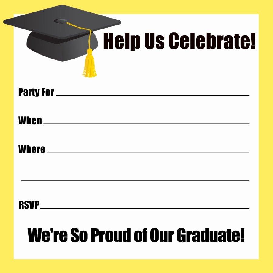 Free Graduation Announcement Template Fresh 40 Free Graduation Invitation Templates Template Lab