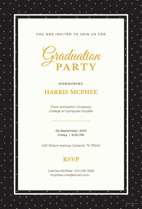 Free Graduation Announcement Template Lovely 19 Graduation Invitation Templates Invitation Templates