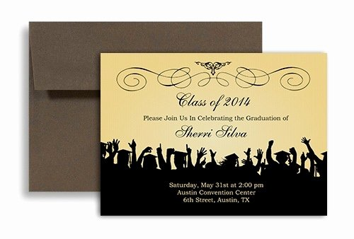 Free Graduation Announcement Template Lovely Free Graduation Invitation Templates for Word 2018