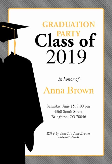 Free Graduation Announcement Template Lovely Graduation Party Invitation Templates Free