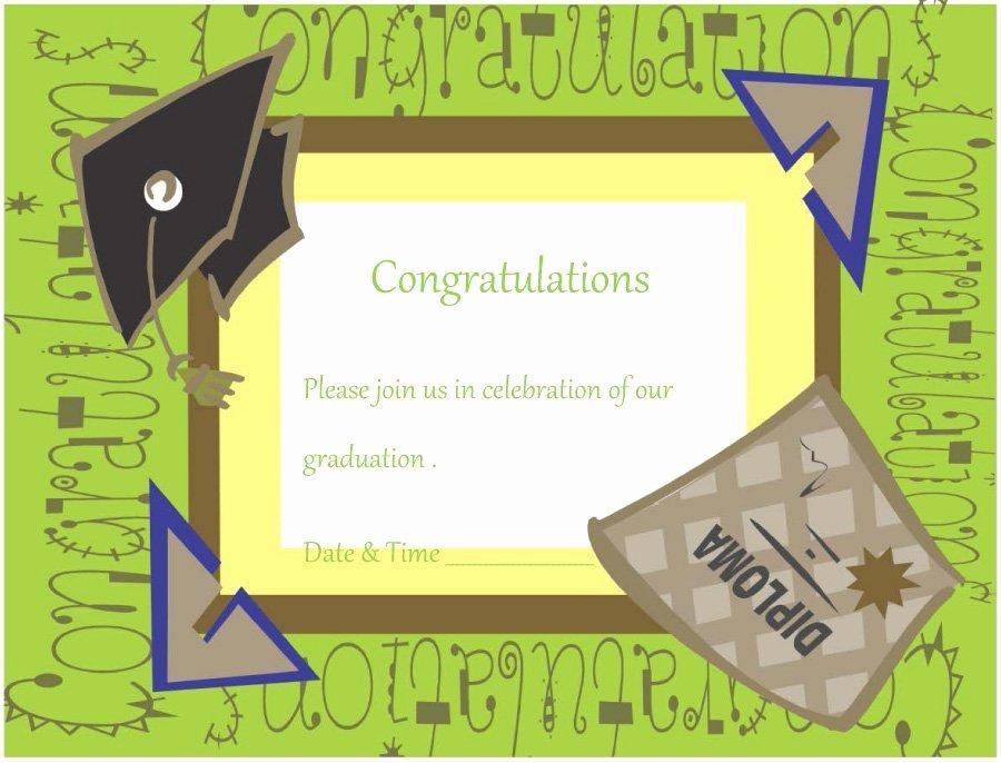 Free Graduation Announcement Template Luxury 40 Free Graduation Invitation Templates Template Lab