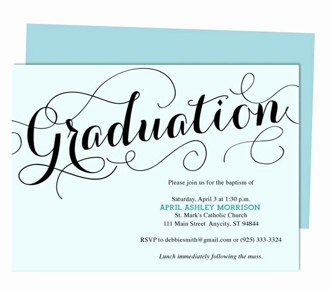 Free Graduation Announcement Template Luxury Carolyna Graduation Announcement Template