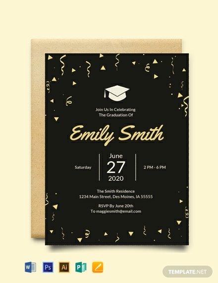 Free Graduation Announcement Template Luxury Free Graduation Invitation Template Word