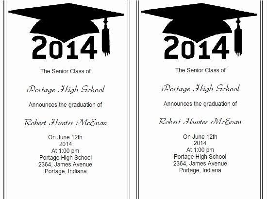 Free Graduation Announcement Template Luxury Use I Print Templates for Graduation Invitations