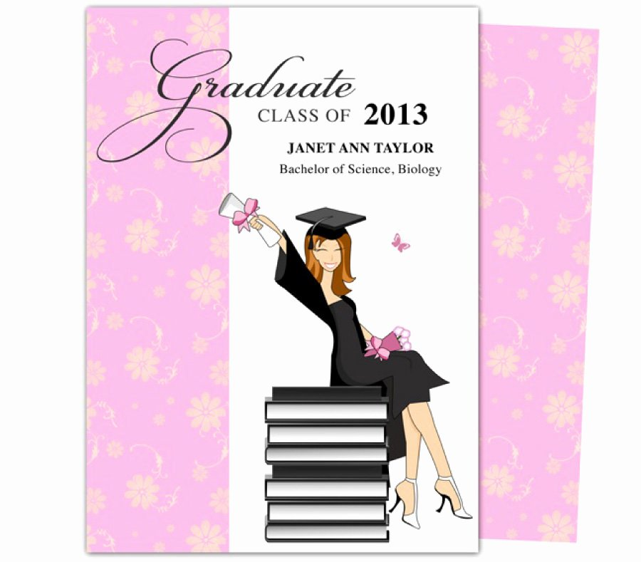 Free Graduation Announcements Templates Inspirational 40 Free Graduation Invitation Templates Template Lab