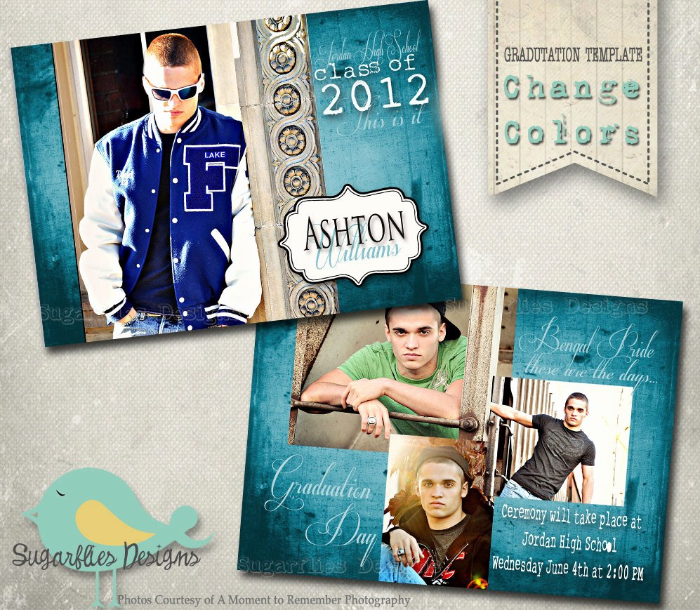 Free Graduation Announcements Templates Lovely Graduation Announcement Photoshop Template Senior Graduation