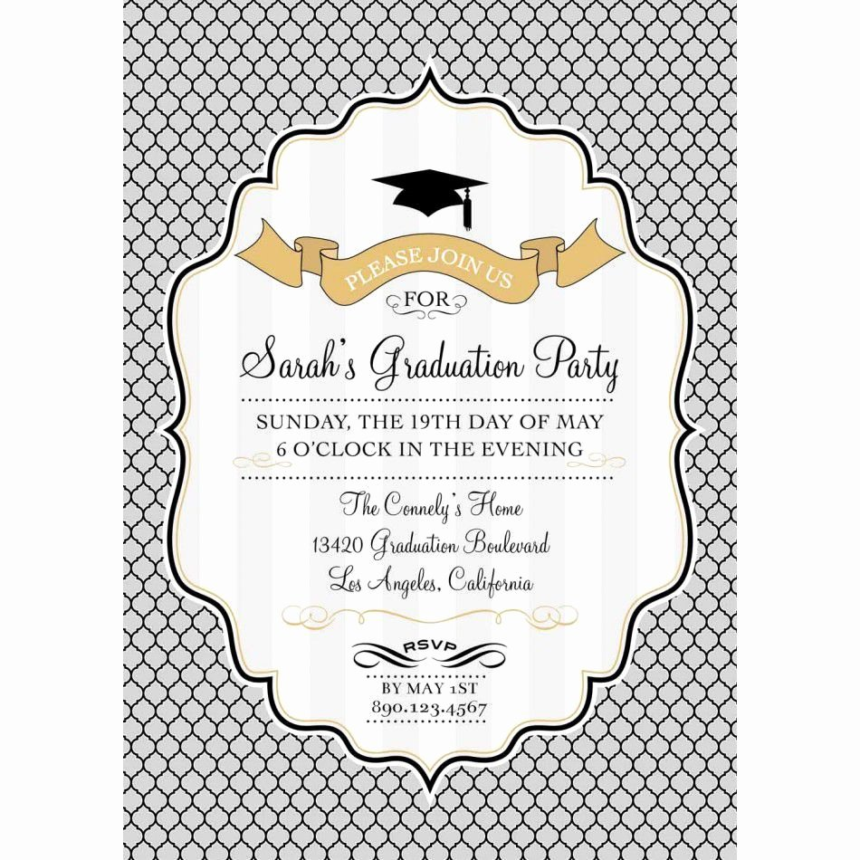 Free Graduation Announcements Templates Lovely Graduation Invitation Templates Free Photoshop