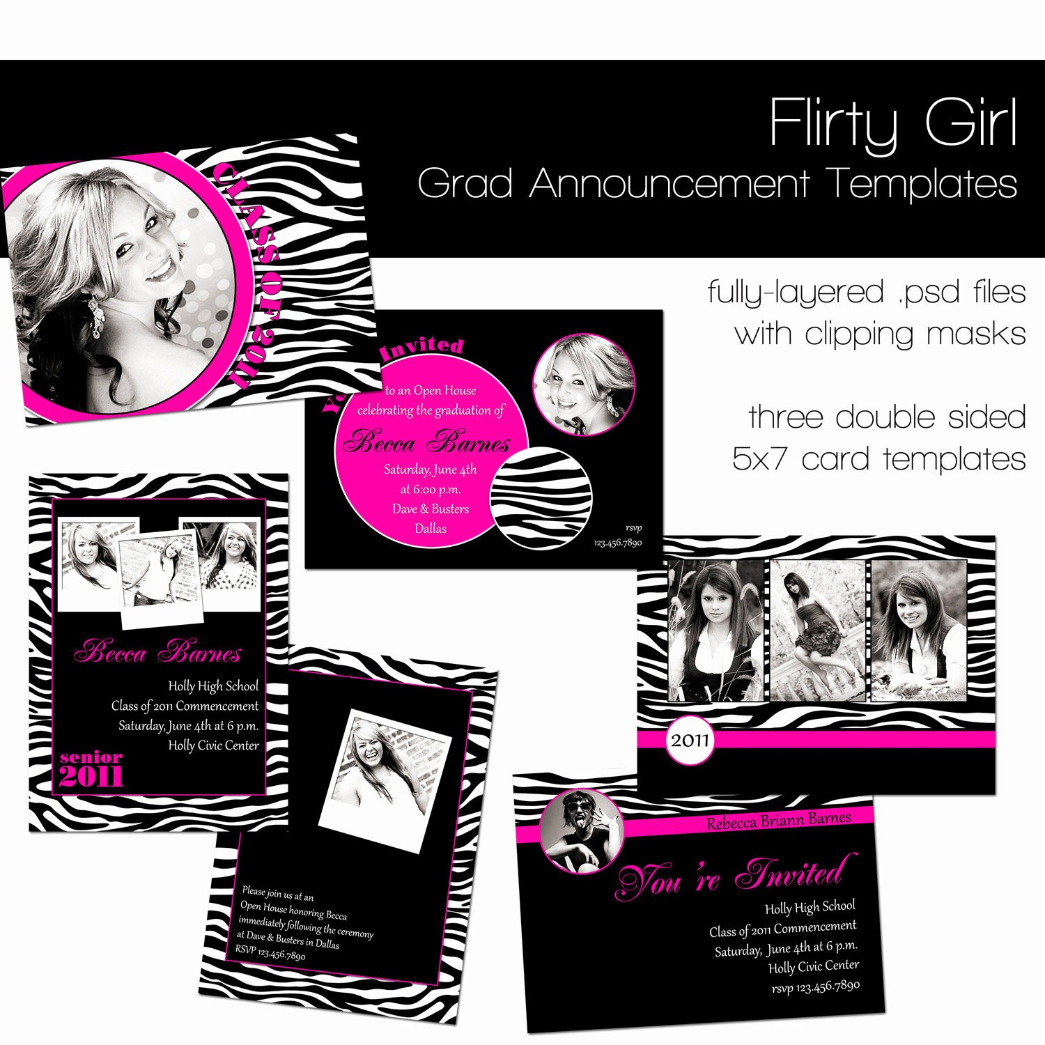 Free Graduation Announcements Templates Lovely Items Similar to Flirty Girl Graduation Announcement