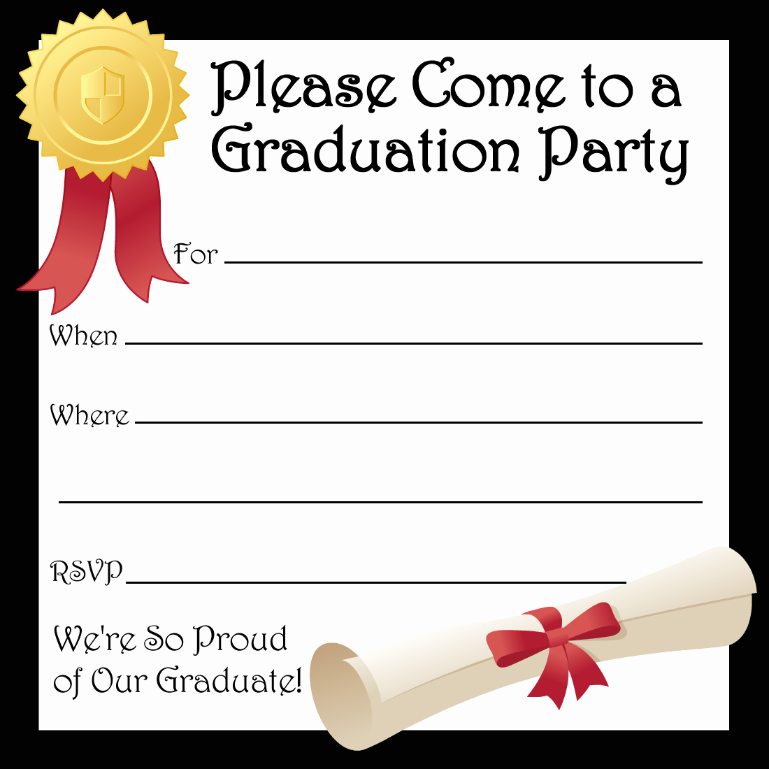 Free Graduation Announcements Templates Luxury Free Printable Graduation Party Invitations