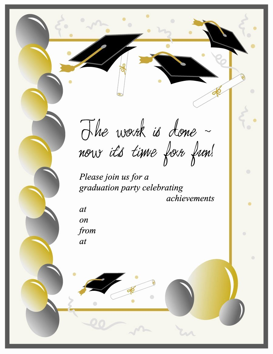 Free Graduation Announcements Templates New 40 Free Graduation Invitation Templates Template Lab