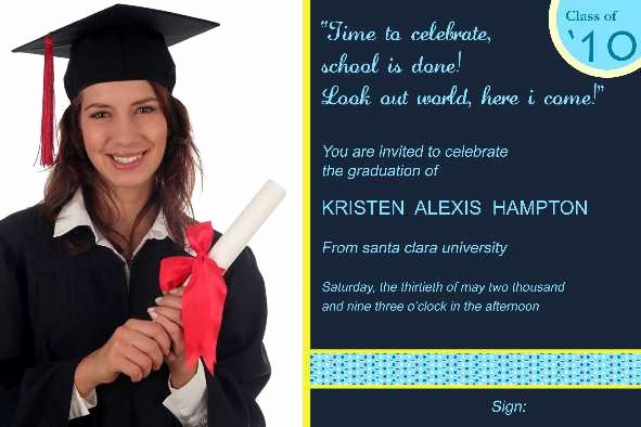 Free Graduation Announcements Templates New Free Photo Templates Graduation Announcement