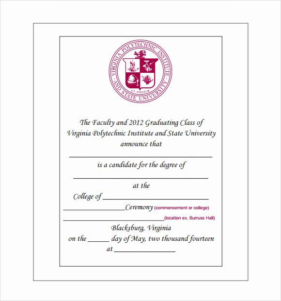 Free Graduation Announcements Templates Unique Sample Graduation Announcement Template 8 Free