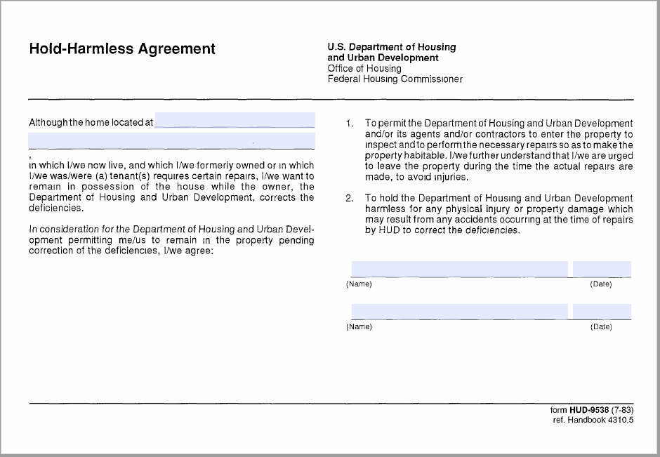 Free Hold Harmless Agreement Template Lovely 43 Free Hold Harmless Agreement Templates Ms Word and Pdfs