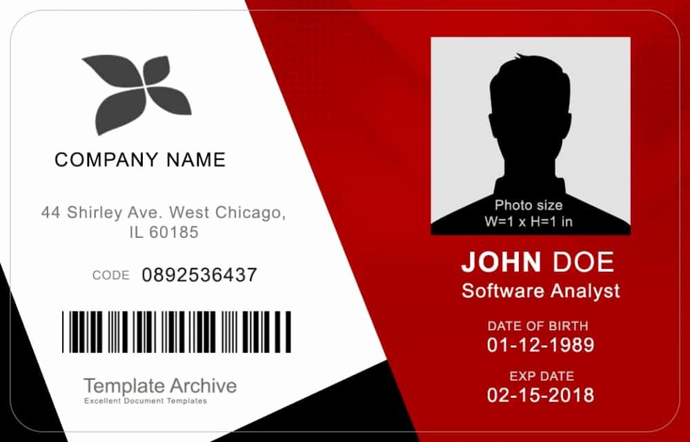 Free Id Card Template Awesome 16 Id Badge & Id Card Templates Free Template Archive