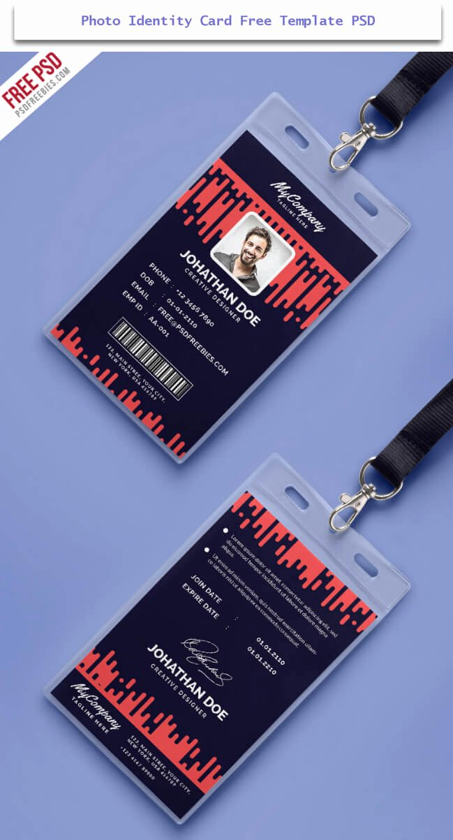 Free Id Card Template Awesome 30 Creative Id Card Design Examples with Free Download
