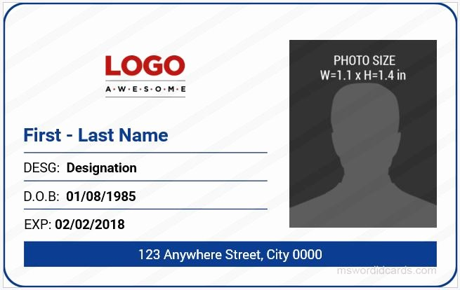 Free Id Card Template Awesome 5 Best Fice Id Card Templates Ms Word