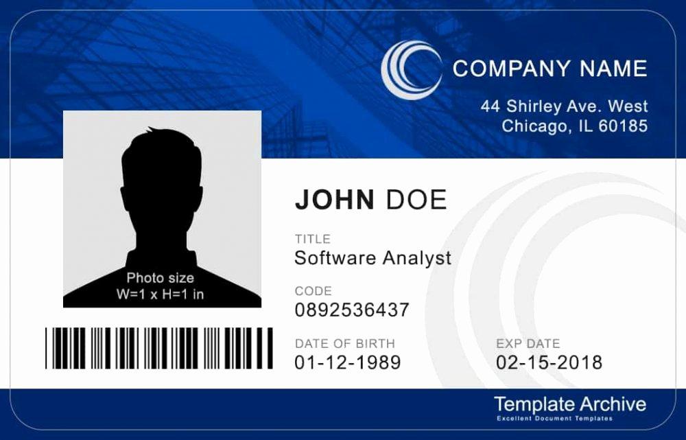 Free Id Card Template Beautiful 16 Id Badge & Id Card Templates Free Template Archive