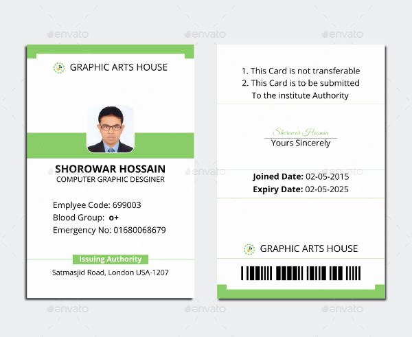 Free Id Card Template Beautiful Free Printable Id Cards Templates