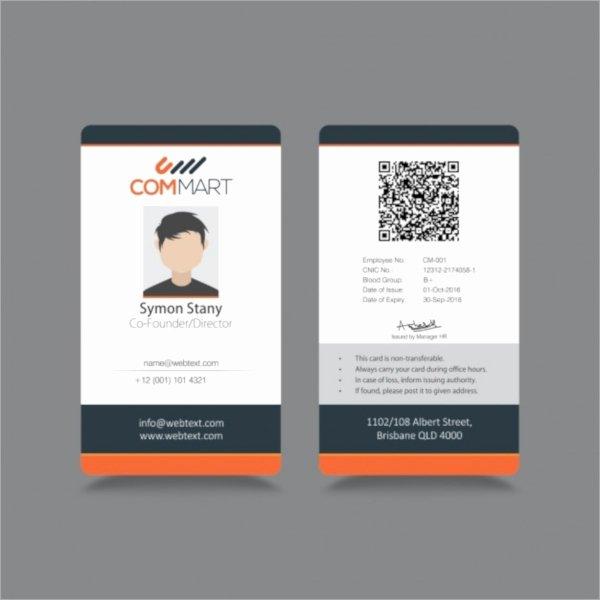 Free Id Card Template Elegant 36 Id Card Templates Psd Eps Ai Word