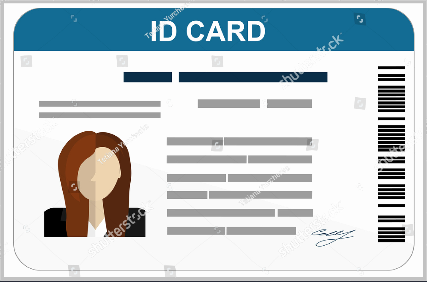 Free Id Card Template Elegant 43 Professional Id Card Designs Psd Eps Ai Word