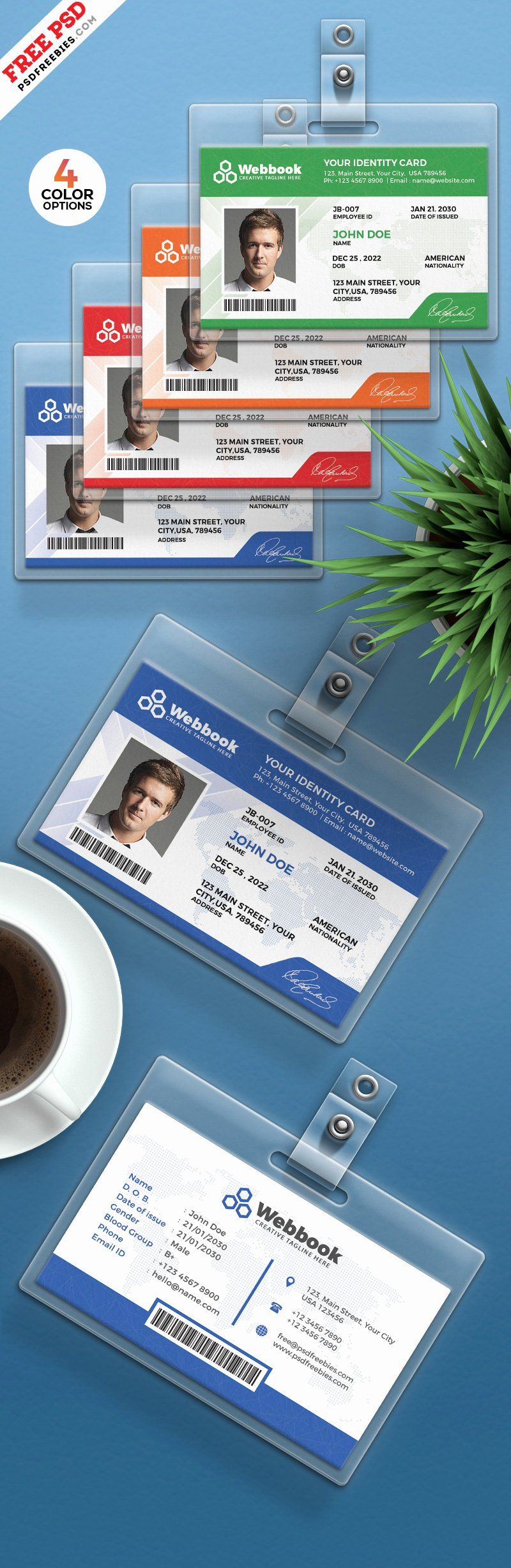 Free Id Card Template Fresh Free Id Card Template Psd Set