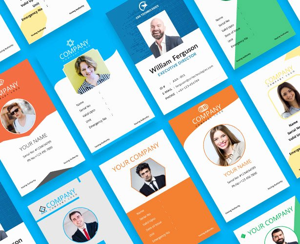 Free Id Card Template Lovely 2 Free Pany Employee Identity Card Design Templates