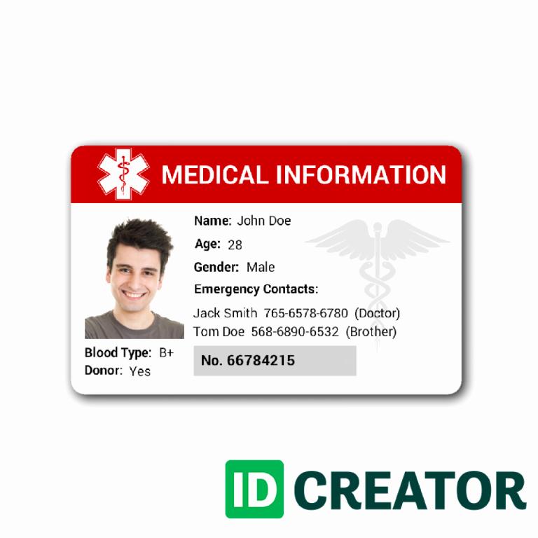 Free Id Card Template New Free Custom Id Card Templatesidcreator Make Id Badges