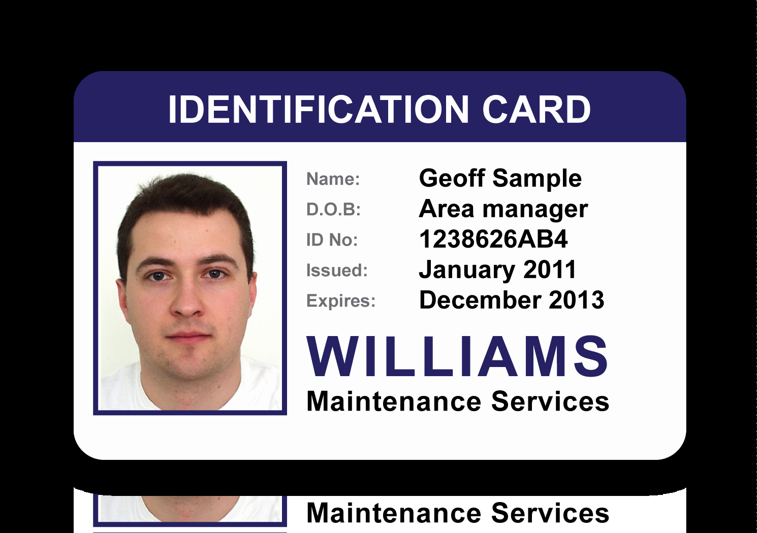 Free Id Card Template New Id Card Gallery An Image to View Larger Size – Go