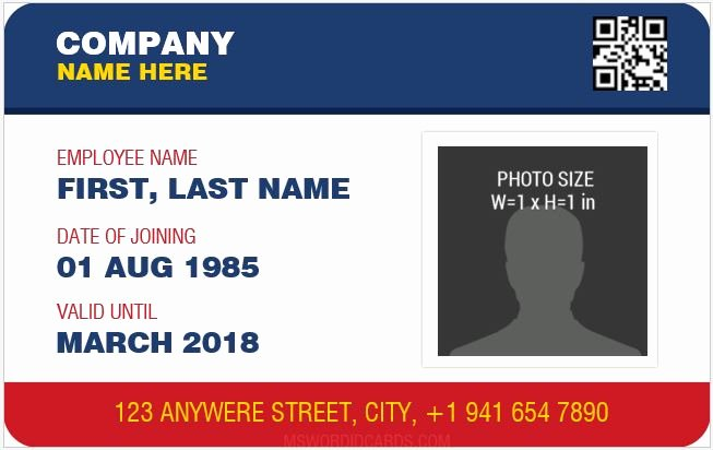 Free Id Card Template Unique 10 Best Staff Id Card Templates Ms Word