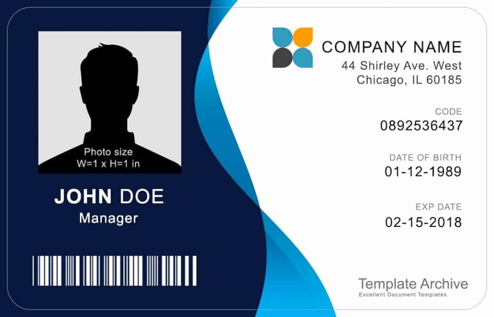 Free Id Card Template Word Beautiful 16 Id Badge & Id Card Templates Free Template Archive