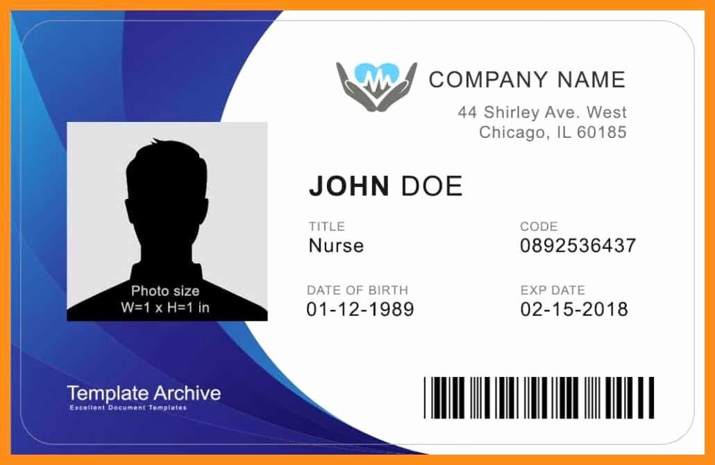 Free Id Card Template Word Fresh 12 13 Microsoft Word Id Badge Template