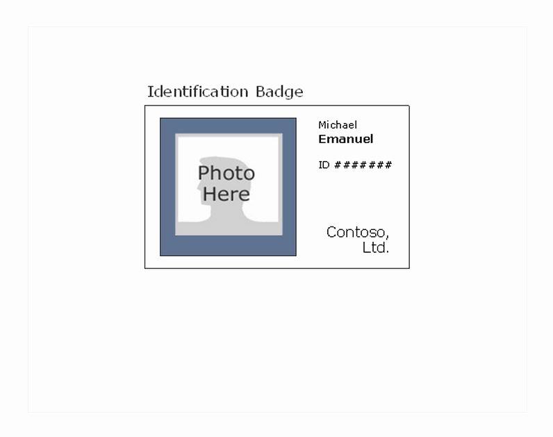 Free Id Card Template Word Fresh Id Card Template