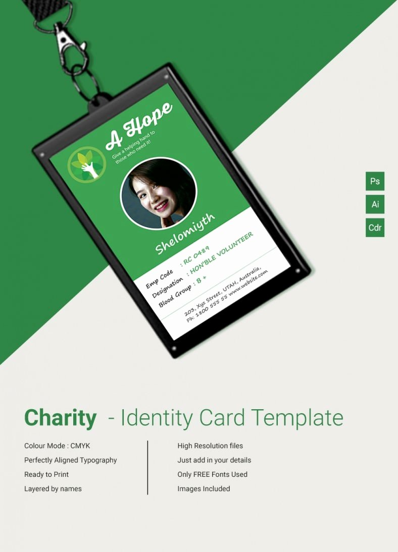 Free Id Card Templates Awesome Beautiful Charity Identity Card Template