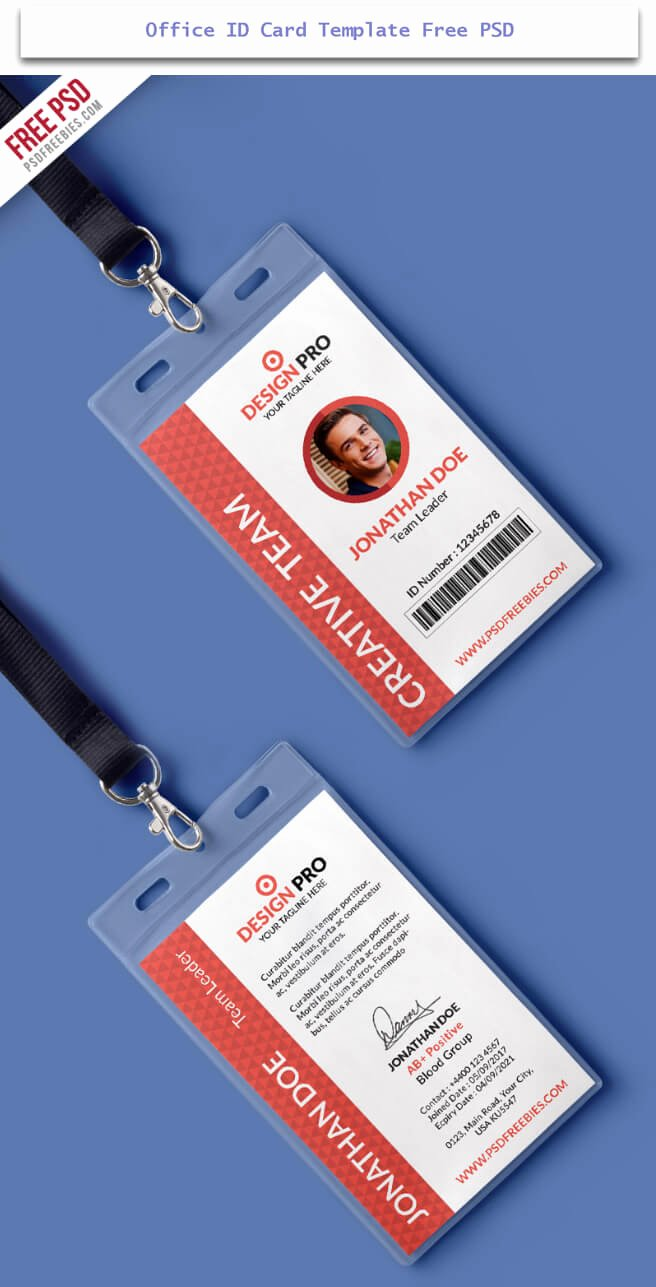 Free Id Card Templates Beautiful 30 Creative Id Card Design Examples with Free Download