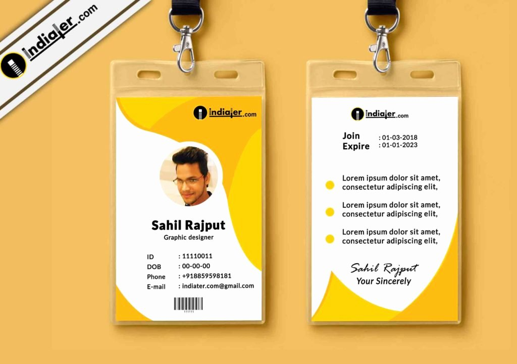 Free Id Card Templates Lovely Multipurpose Corporate Fice Id Card Free Psd Template
