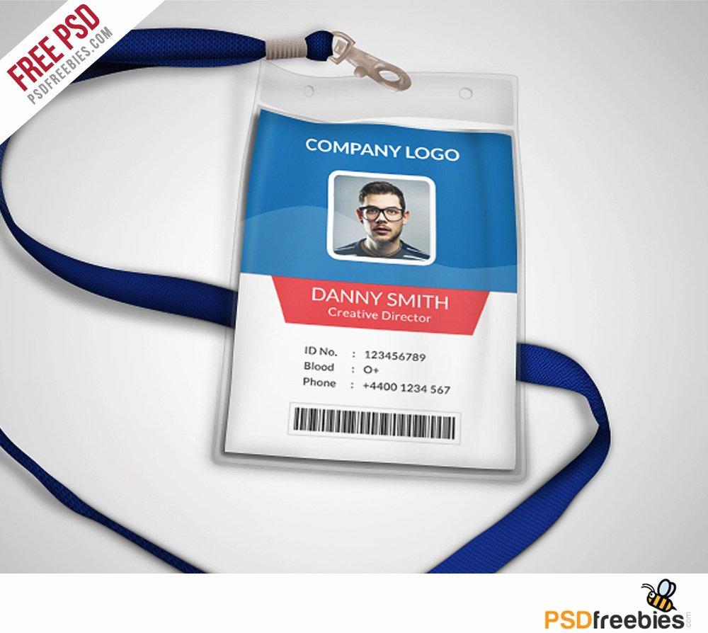 Free Id Card Templates New Multipurpose Pany Id Card Free Psd Template