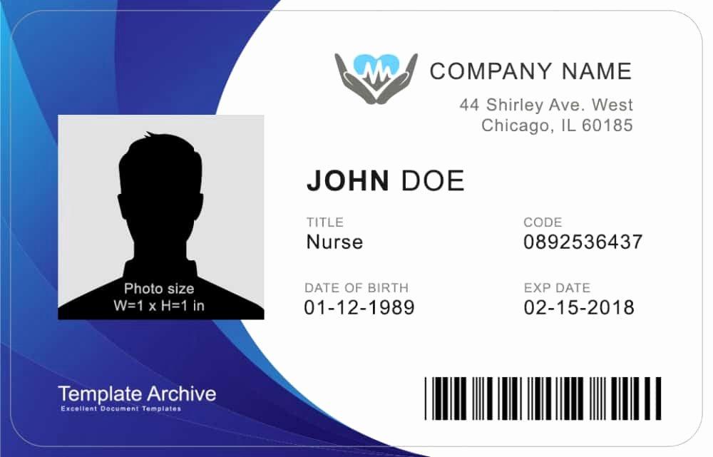 Free Id Card Templates Unique 16 Id Badge & Id Card Templates Free Template Archive