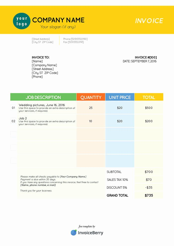 free indesign invoice templates