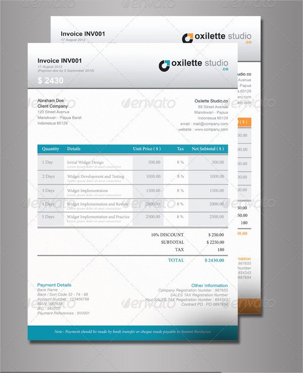 Free Indesign Invoice Template Elegant 6 Indesign Invoice Templates Free Download